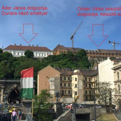 Dunára néző erkélyt kezdtek építeni Orbánnak a Várban
