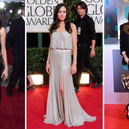 Nézze meg Angelina Jolie legjobb vörös szőnyeges pillanatait!