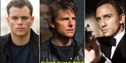 A Bourne, Bond és Hunt filmek világa