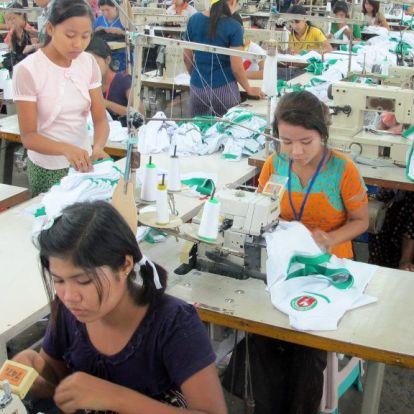 14 évesekkel varratták a HM ruháit Mianmarban