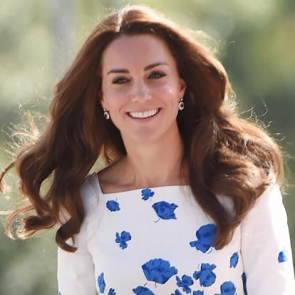Katalin hercegné maga volt a megtestesült szépség kék virágos ruhájában