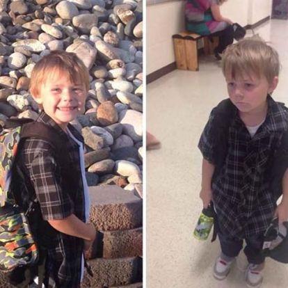 Sokatmondó fotók – gyerekek az iskolakezdés előtt és után