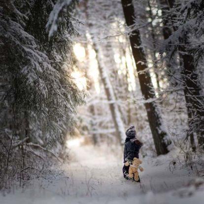 Téli mesevilág a gyermekek szemével – Iwona Podlasińska gyönyörű fotói