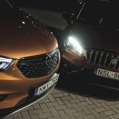 Rekorderek – Opel Mokka X vs. Suzuki SX4 S-Cross (2016) teszt