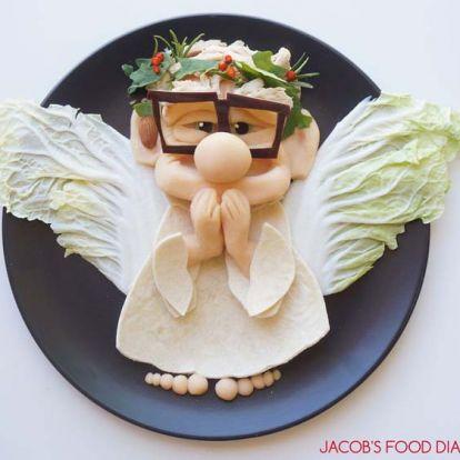 Rajzfilmfigurák a tányéron – művészien tálalja az ételeket a kreatív anyuka