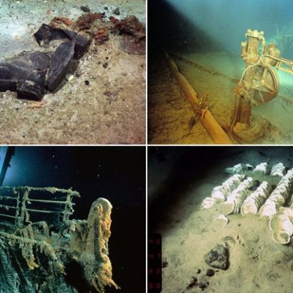Kísérteties képek a tenger mélyén fekvő Titanic fedélzetéről