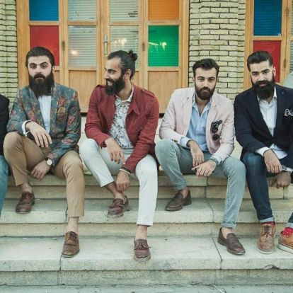 Iraki kurd férfiak diktálják a divatot