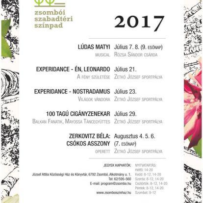 Zsombói Szabadtéri Színpad 2017