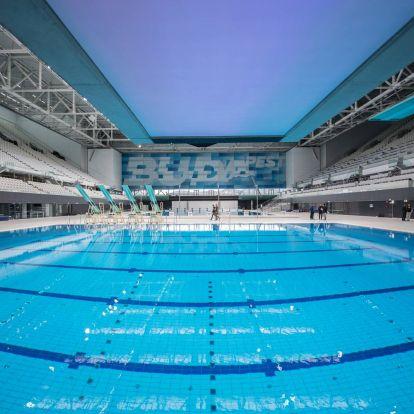 Darnyi Tamás úszóiskolájának is csináltak gyorsan egy tanmedencét a Duna Arénában