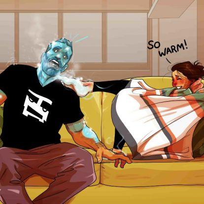 Szakadunk a karikatúrákon, amiket ez az izraeli dizájner készített a házaséletről
