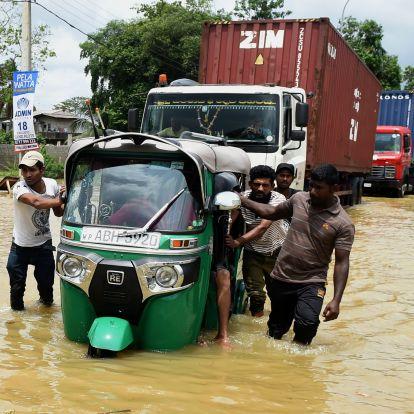 Több mint százötvenen meghaltak a Srí Lanka-i esők miatt