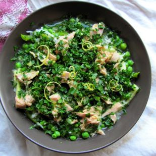 Izgalmas júniusi zöldségragu tonhallal és gremolataval