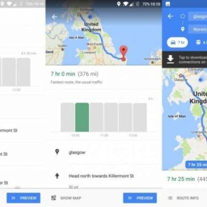 A Google Térkép megmondja, hogy mikor indulj el