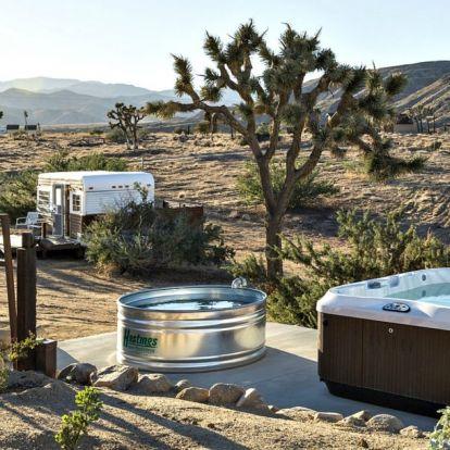 Ilyen nomád luxusban eltengődnénk pár napot a Mojave-sivatagban