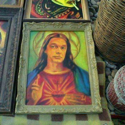 Jézus Krisztusként festették meg Orbán Viktort