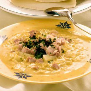 Curry-vel rafinált savanyú káposzta leves füstölt tarjával