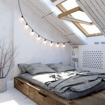 Otthonos tetőtéri hálószobák
