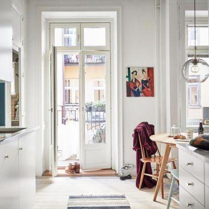 Modern lakás északi behatással