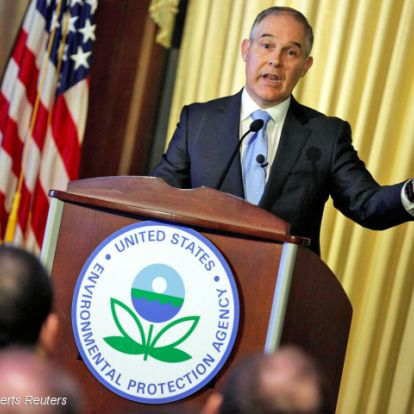 Az USA klímaváltozás elleni harcát a környezetvédelem vezetője gáncsolja