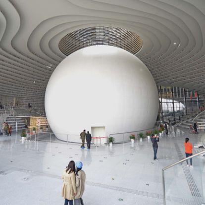 Kína legmenőbb könyvtára egyetlen hatalmas szem