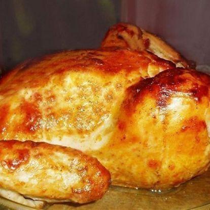 Ünnepi mézes-mázas sült csirke