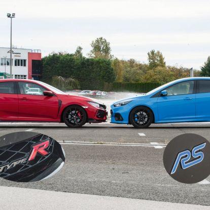 Szemtől szembe – Ford Focus RS és Honda Civic Type R összevont teszt