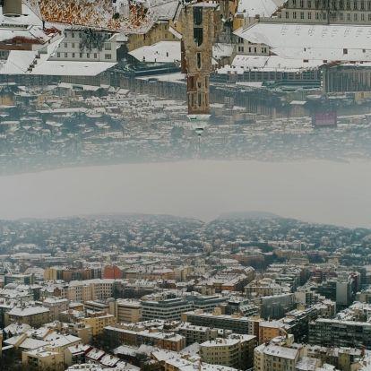Ámulatba ejtő a behavazott Budapest a magasból