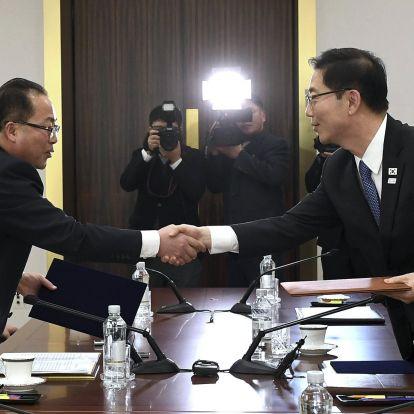 Közös zászló alatt vonul be a két Korea a téli olimpián