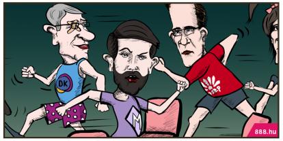 A nap karikatúrája a 888-on