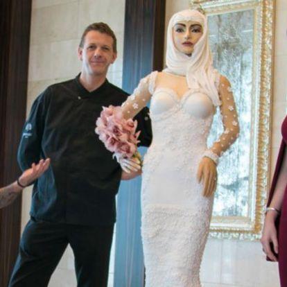Az úri közönség megeszi a menyasszonyt