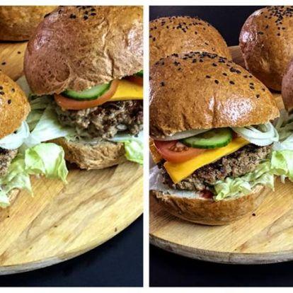 Teljes kiőrlésű, hajdinás hamburger zsemle