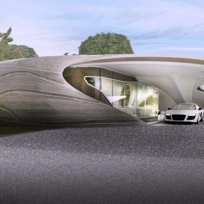 Az űrkorszakot idézi a 3D-s nyomtatott családi ház