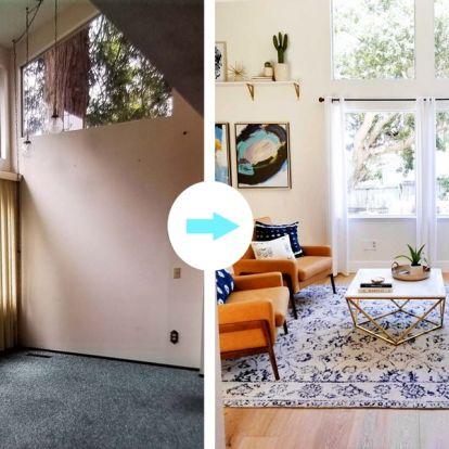 Házfelújítás, előtte/utána