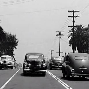 Igazi időutazás ez az 1940-es Los Angeles-i autózós videó