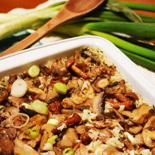 Sült gombás rizs