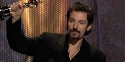 """Streets Of Philadelphia"" winning Best Original Song Oscar®"