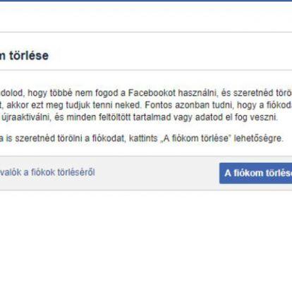 Hogyan tudja végleg törölni magát Facebookról?