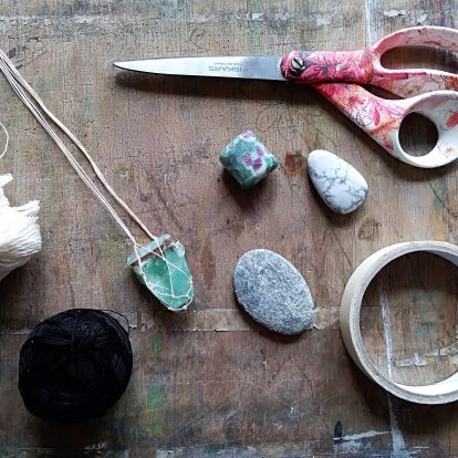 Makramé nyaklánc - DIY