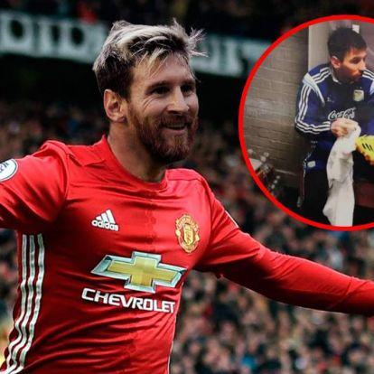 Mit keres Messi fotója a Manchester United öltözőiben?