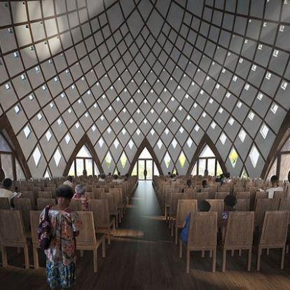 Bahá'í templom Új-Guineában