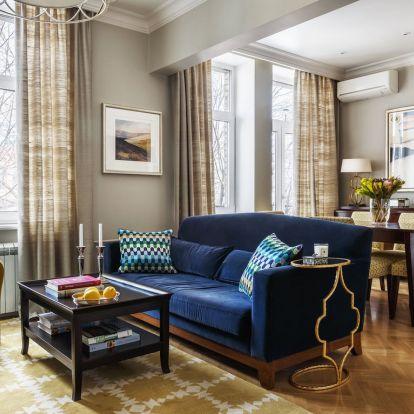Modern klasszikus stílusú lakberendezés 79m2-es, háromszobás lakásban - harmonikus színpaletta, elegáns részletek