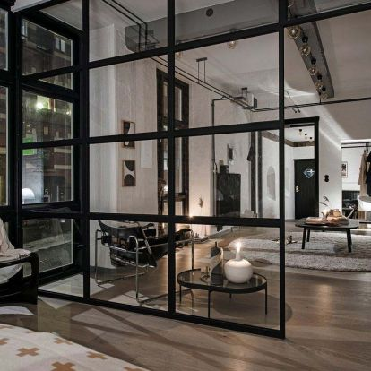 58m2-en tökéletesen felépített New York-i ipari, raktár, loft hangulat - egyedi és férfias lakás - tégla, beton, üveg, természetes anyagok