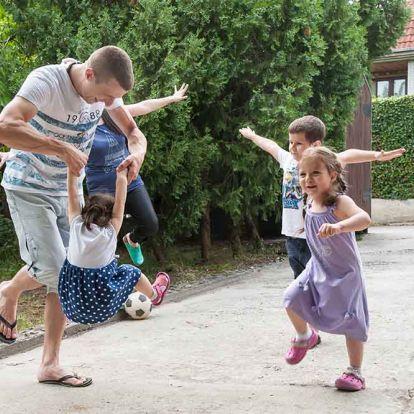 Apák és gyerekeik sportolhatnak együtt az UNICEF Apák napján