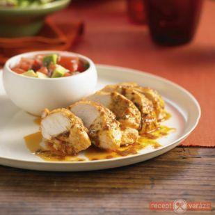 Sült csirke avokádósalátával recept - Mit főzzek ma? - Receptvarázs – receptek képekkel