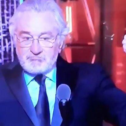 """""""B*szd meg, Trump!"""" – mondta Robert De Niro egy díjátadón, a közönség állva tapsolt"""