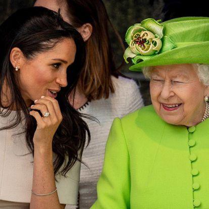 Meghan hercegné gyönyörű ajándékot kapott II. Erzsébettől