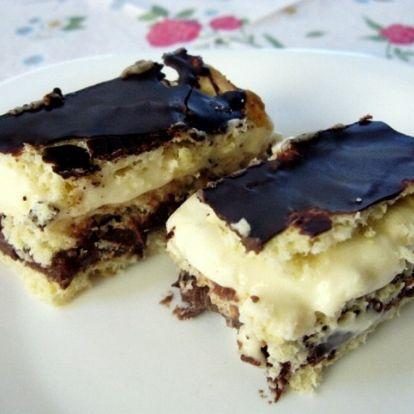 Roppanós csoki és lágy vaníliakrém: csokis cseh krémes