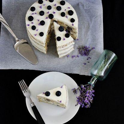 Ellenállhatatlan áfonyás-vaníliás torta - csipetnyi mákkal és levendulával
