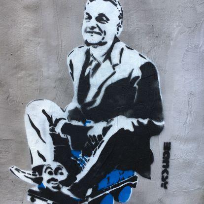 Lehetséges, hogy Banksy Budapesten járt, és megfestette Orbánt