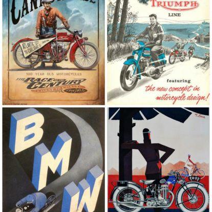 A történelem tükörképei – régi motoros plakátok